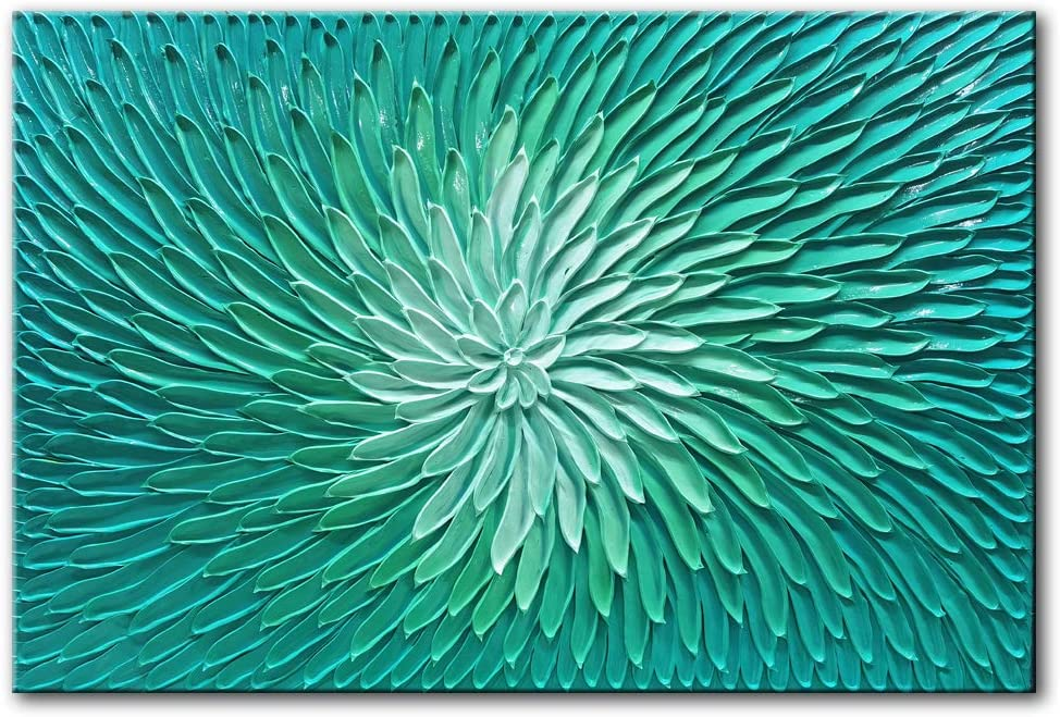 Tyed Directly managed store Art- Blue green gradient Abstract Max 85% OFF Canvas Te Oil On Painting