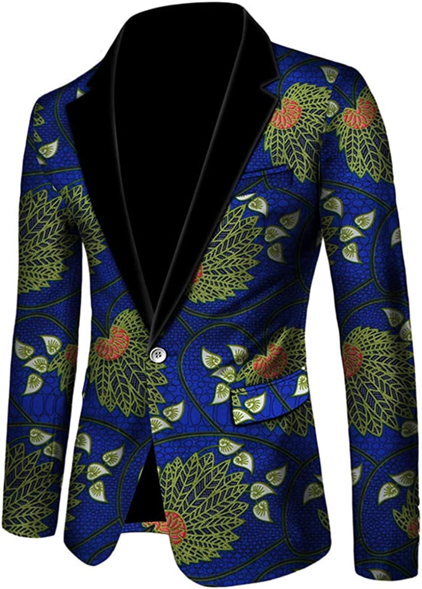 ELISCO Men's Jacket African Print Dashiki Suit Traditional Festivel Clothing Dashiki for Men