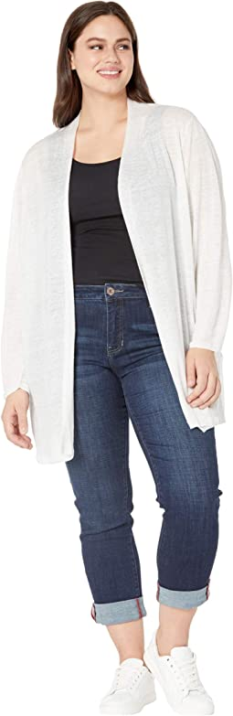 Plus Size Lightweight Long Back Of The Chair Cardigan