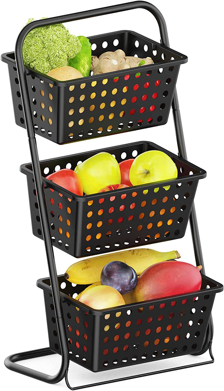 iSPECLE 3 Tier Standing Fruit  Hanging  Basket $19.79  Coupon