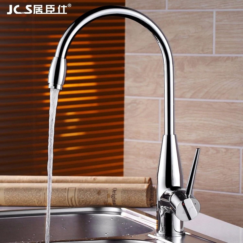 MEIBATH Küchenarmatur Mischbatterie Küche Wasserhahn Spültischarmatur Warmes und kaltes Wasser Messing Drehbar Wasserhahn