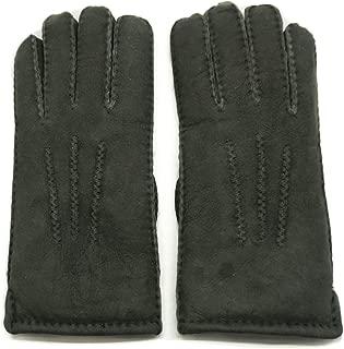Women's Merino Lambskin Shearling Leather Gloves Three Points
