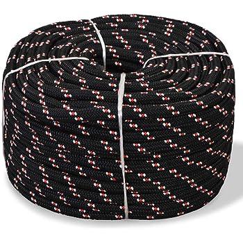 Festnight Corde de Bateau Tress/ée Polyester R/ésistance aux UV et /à labrasion