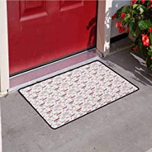 RelaxBear 4th of July Welcome Door mat Patriotic Festive July Holiday with American Celebration Flags and Rockets Door mat is odorless and Durable W23.6 x L35.4 Inch Multicolor
