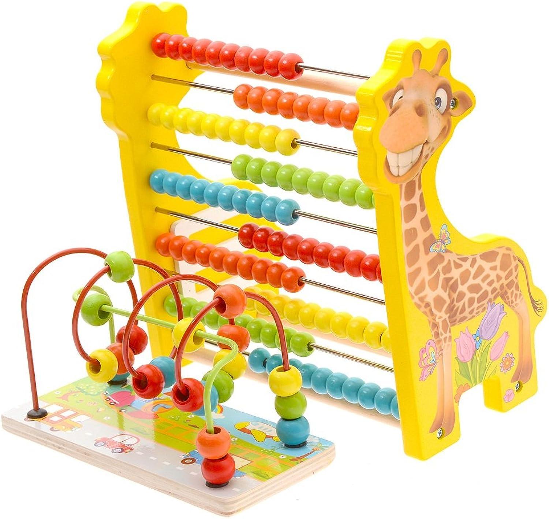 Unbekannt FEI Babyspielzeug HolzKinderspielzeug wulstige Perlen Early Education Babyspielzeug die Entwicklung von Intellectual 13 Jahre Frühe Erziehung (Farbe   3)