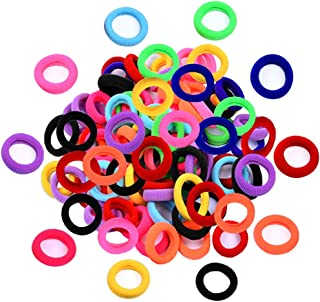 Elastic Hair Bands Ties Girl, Small Size Rubber Band Ponytail Holders (100 PCS)