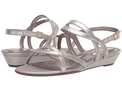 Rockport Total Motion Zandra Ankle Strap (Pewter) Women