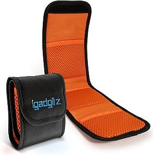 iGadgitz U4536 3 Bolsillos Funda Porta Filtros de Objetivos Compatible con Cámaras SLR y DSLR