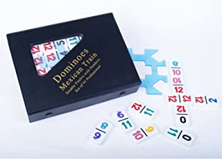 Mexican Train Double Twelve Dominoes with Numbered Tiles