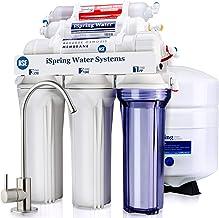iSpring RCC7AK, NSF Certified, 6-Stage Superb Taste High Capacity Under Sink Reverse Osmosis Drinking Water Filter System ...
