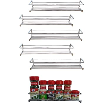 6 Pack. Wall mount spice rack organizer for cabinet. Spice shelf. Seasoning organizer. Pantry door organizer. Spice storage. 12 x 3 x 3 inches. Premium Present brand