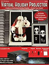 Virtual Holiday Projector - 8 Christmas and Halloween Movies