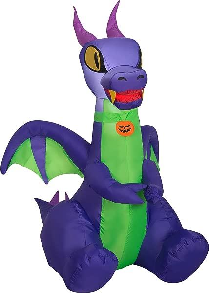 Halloween Inflatable 3 5 Purple Dragon Airblown Decoration