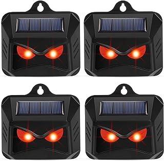 Thanos 4 Pack Chicken Coop Animal Repellent Solar Powered Nocturnal Animal Repeller Deterrent Predator Light Scare Deer Co...