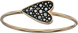 Vintage Glitz Black Heart Ring