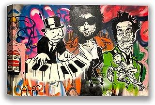 Christmas Ugly Sweater Cal ALEC Monopoly Canvas Wall Art Piano Cartoon Home Decor Prints 8