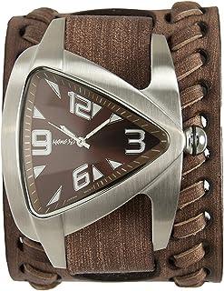 [ネメシス] Nemesis 腕時計 Men's Quartz Stainless Steel and Leather Casual Watch, Color:Brown 日本製クォーツ BVDB011B メンズ 【並行輸入品】