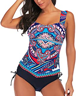 Costume da Bagno Donna Dragon868 Monokini Intero Brasiliana Scollo A V in profondit/à Stampa della Strisce Floreale Backless Imbottita Beachwear
