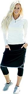 Ella Mae Sports Skirt for Women: Knee-Length Workout Skirt w/Attached Leggings