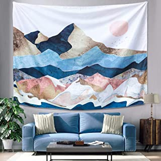 GOCHANGE Mountain Sunset Tapestry, Color Mountain Wall Hanging Tapestry, Sunset Nature Landscape Art Wall Hanging, Mural for Bedroom, Living Room, Dorm, Home Decoration (59.1