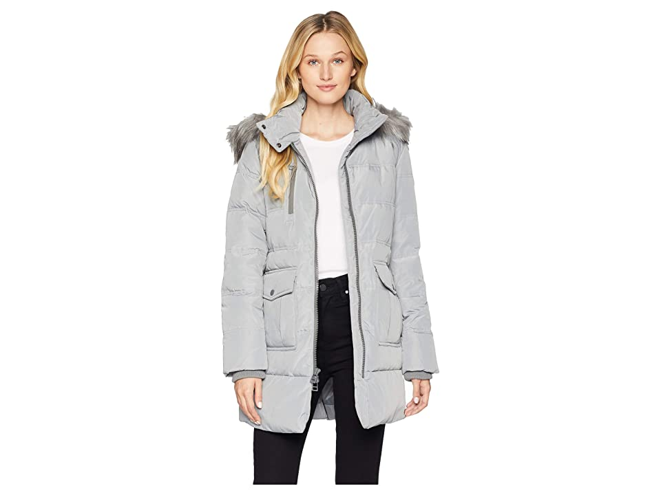 Marc New York by Andrew Marc Astoria Down Filled Anorak with Faux Fur Trim Hood Patch Pockets (Haze) Women