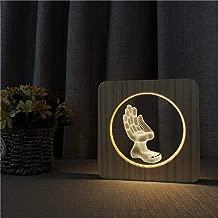 Forma de andamio lámpara de Mesa de luz Nocturna de acrílico Interruptor de Control lámpara de Grabado para Sala de niños decoración de Fiesta por Goteo