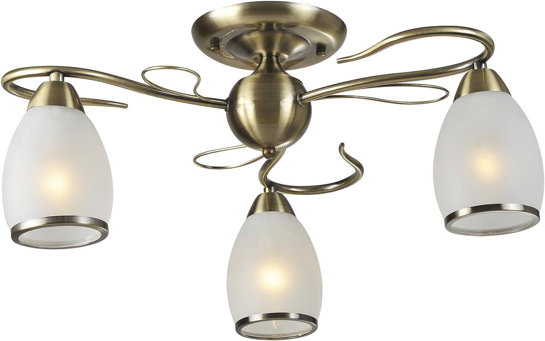 Lampex Asturia 3 292 3 Deckenleuchte aus Metall, Wei, E14