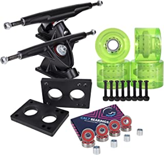 featured product Cal 7 Longboard Skateboard Combo Package with 70mm Wheels & 180mm Lightweight Aluminum Trucks,  Bearings Complete Set & Steel Hardware