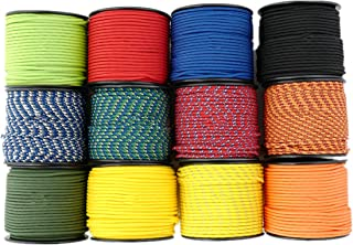 Nylon Rope Paracord Twine - 3//16 inch by 100ft, 16 Strands Diamond Braided,Loading Capacity 80Lbs, for Festival Holiday decaration Using,Twin Pack, Non-Fluorescene