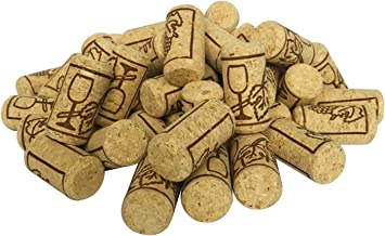 FOSUTOU #8 natural wine corks bag of 50 best for homemade wine and DIY arts.