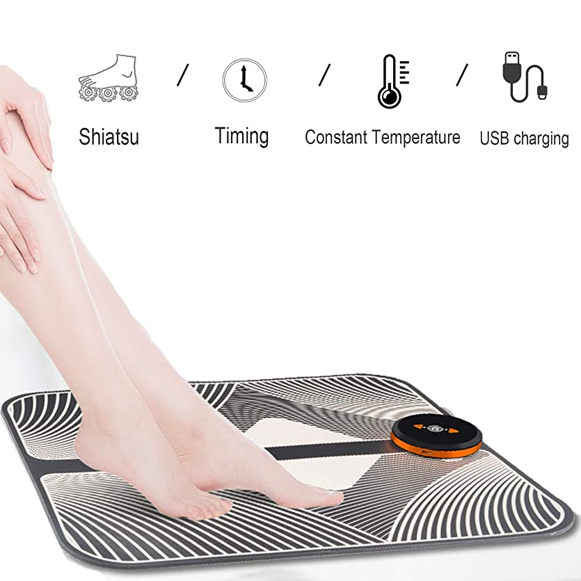 ファイアル消える下るフットマッサージマットUSB充電式、1?9の強度レベル6モード調整可能、血液循環を促進し、圧力筋肉の足の痛みを和らげます