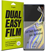 Ringke Dual Easy Film (2 Pack) Compatible with Galaxy Note 9 High Resolution Anti-Smudge Coating Easy Application Case Friendly Screen Protector for Note9
