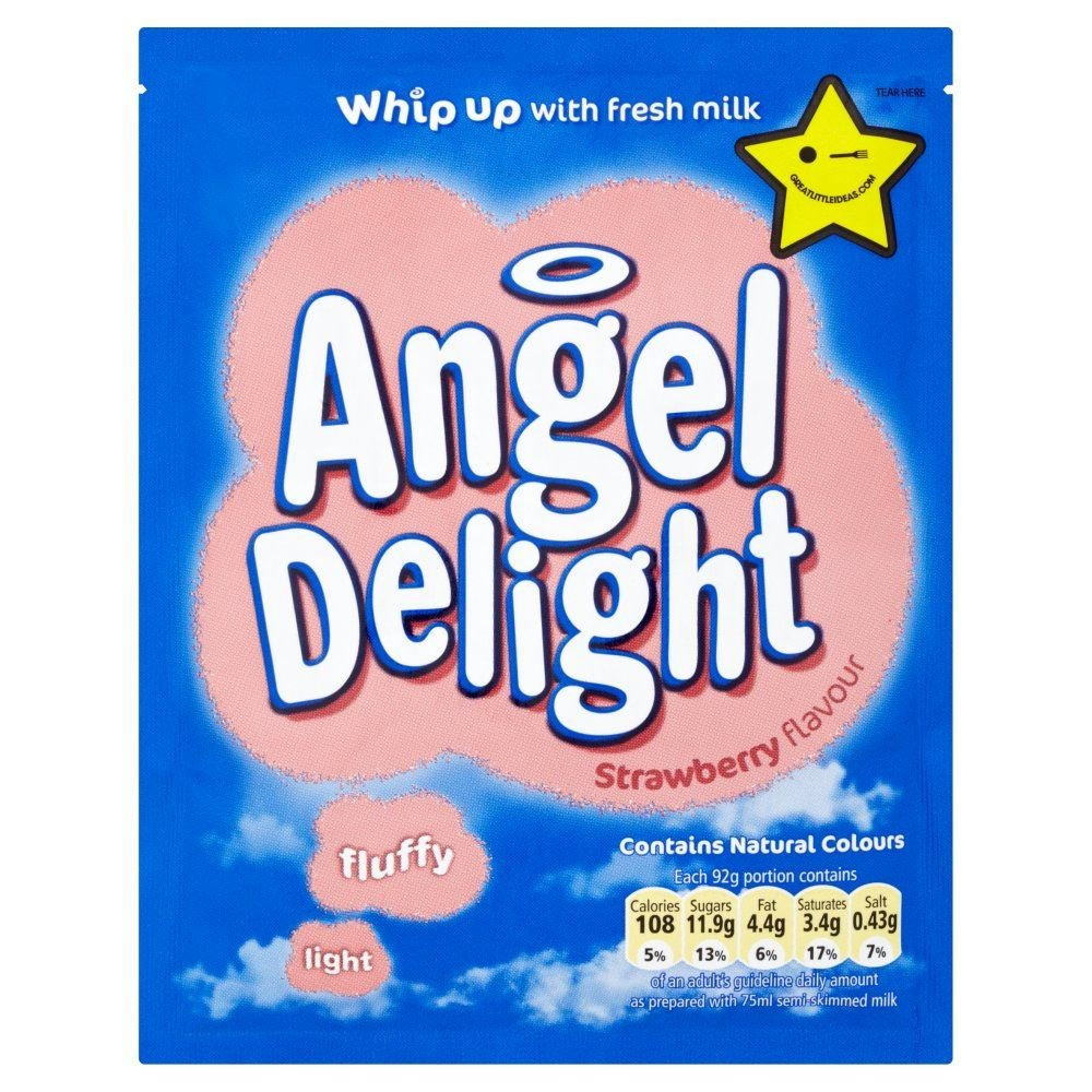 Angel Delight Strawberry Flavour - 59g - Pack of 12 (59g x 12)