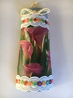 teja decorativa con adorno de calas