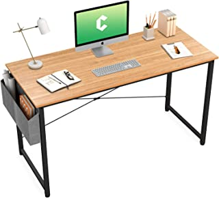 Cubiker Computer Desk 47 inch Home Office Writing Study Desk, Modern Simple Style Laptop Table with Storage Bag, Natural