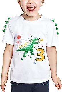 3 Años Camiseta Cumpleaños Bebé Niño Dinosaurio Manga Corta Top Ropa