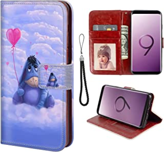 for Samsung Galaxy S9 Plus Wallet Case Hippo Flip Leather Case with Kickstand PU Leather Stand Folio Cover Case for Samsung Galaxy S9 Plus