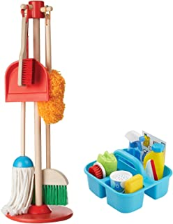Melissa & Doug Let's Play House! Dust, Sweep, Mop, Squeegee Playset Bundle Toy