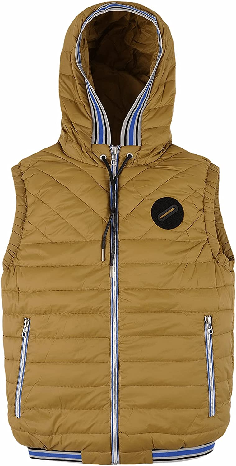 Sporty Quilted Vest with Hood