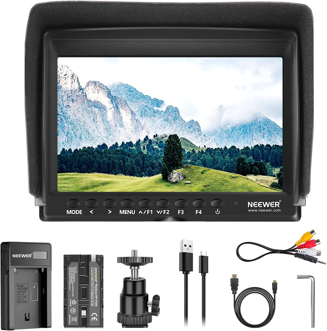 Neewer F100 7 Inch Camera Field Video half Monitor HD IPS Slim Assist Safety and trust