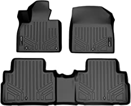 SMARTLINER Custom Fit Floor Mats 2 Row Liner Set Black for 2020-2021 Kia Telluride with 2nd Row Bench Seat.