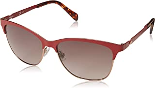 Fossil Women's Fos 2078/s Square Sunglasses, Matte Red, 55 mm
