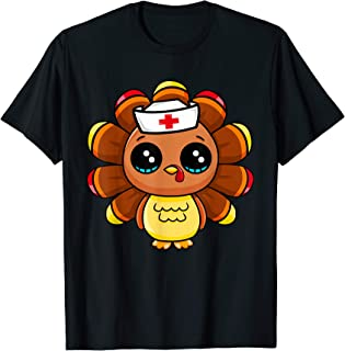 Thanksgiving Nurse Turkey Cute Family Gift Men Women Funny T-Shirt