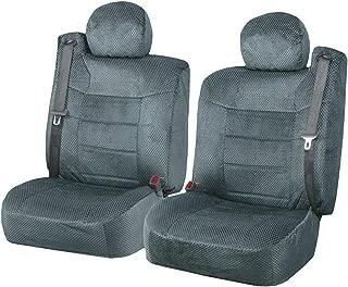 Semi Custom Scottsdale Seat Covers w/Built-in Seat Belt Opening for 2001-2006 Chevy Silverado,Chevy Tahoe, Chevy Suburban, GMC Yukon and GMC Sierra (Gray)