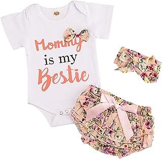 Newborn Baby Girls Clothes Ruffles Summer Romper Bodysuit...