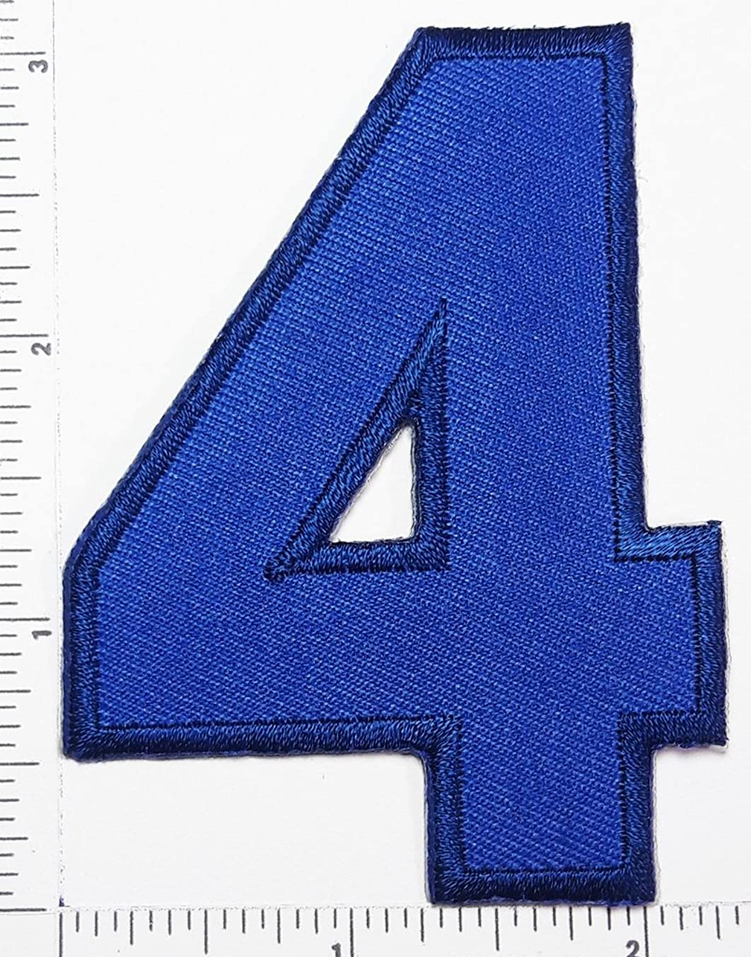 Blue Number 4 Patch Number four counting logo Letter school symbol counting logo jacket T-Shirt patch iron on patch