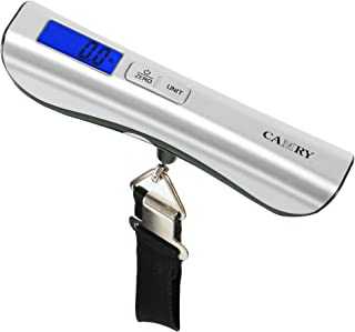 Camry Digital Luggage Scale 110lbs / 50kgs Large and Blue Backlight LCD Display