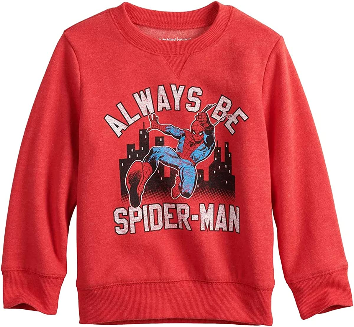 Infant Boy Jumping Beans Spider-Man Graphic Sweatshirt, Red (3 Months)