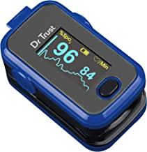 Dr Trust (Usa) Signature Series Fingertip Pulse Oximeter With Audio Visual Alarm Water Resistant ( Royal Blue )