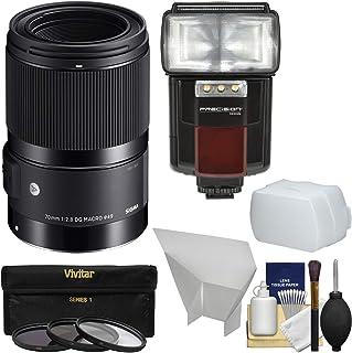 シグマ70mm f / 2.8アートDGマクロレンズとフラッシュ+ディフューザー+フィルタ+キットfor Canon EOS DSLRカメラ